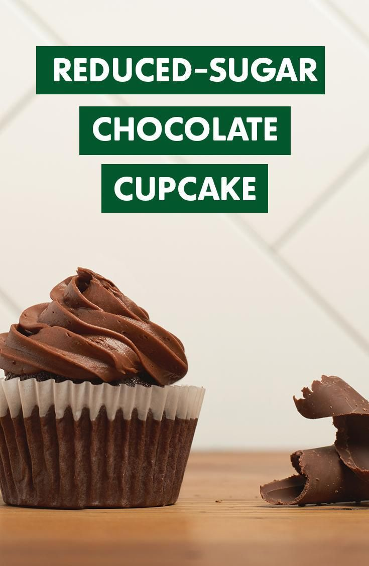 This reduced-sugar recipe is piece of cake! Make these Chocolate Cupcakes made with 70% less sugar using Truvia Baking Blend at Truvia.com.