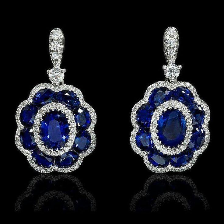 #Gold #sapphires#diamond #Beautiful #Ravasi #earrings