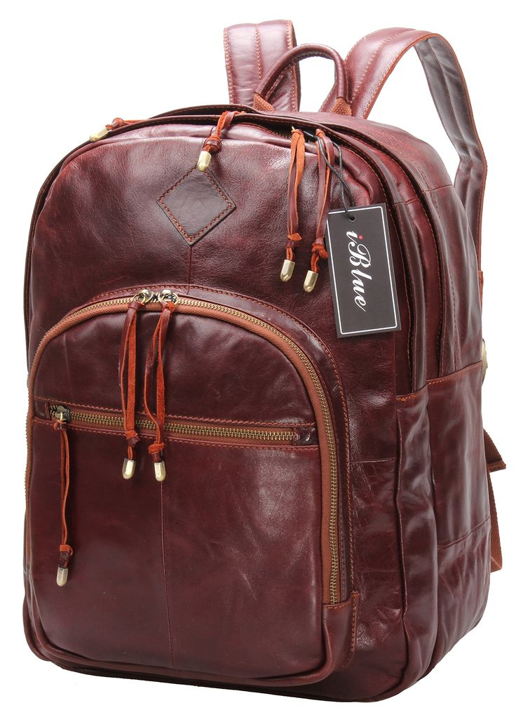 Iblue Genuine Leather College Laptop Backpack Travel Shoulder Bag # i7309 (L, red brown). ✔Material- Soft Genuine Leather,Durable Lining,Strong Stitching And Sturdy Brass Zippers. ✔Dimension- 9.8''L X 5.1''W X 16.2''H Inches, Prefect Everyday Bag For School, Picnic, Hiking And Traveling. ✔Capacity- Large Compartments To Store Your 15'' Laptop, Mac Book Accessories, Tablets, And Important Papers. ✔ Function- No Matter For University Students Or Business Men,You Can Use It As A Handbag…