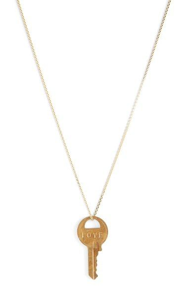 The Giving Keys 'Dainty Classic - Hope' 18-Inch Gold Key Pendant Necklace