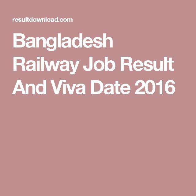 Bangladesh Railway Job Result And Viva Date 2016