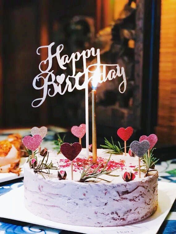Sale Glittering Happy Birthday Cake Toppers 1pcs Centerpiece