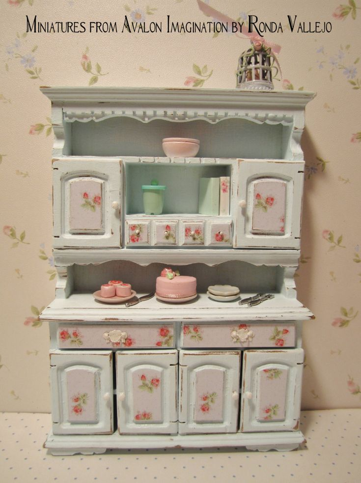 94 best images about Dollhouse Miniatures Shabby Chic on Pinterest