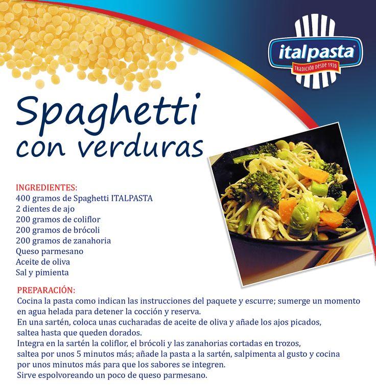 Una deliciosa receta de cuaresma… nutritiva, fácil, deliciosa y muy económica… con pasta ITALPASTA, por supuesto!!!