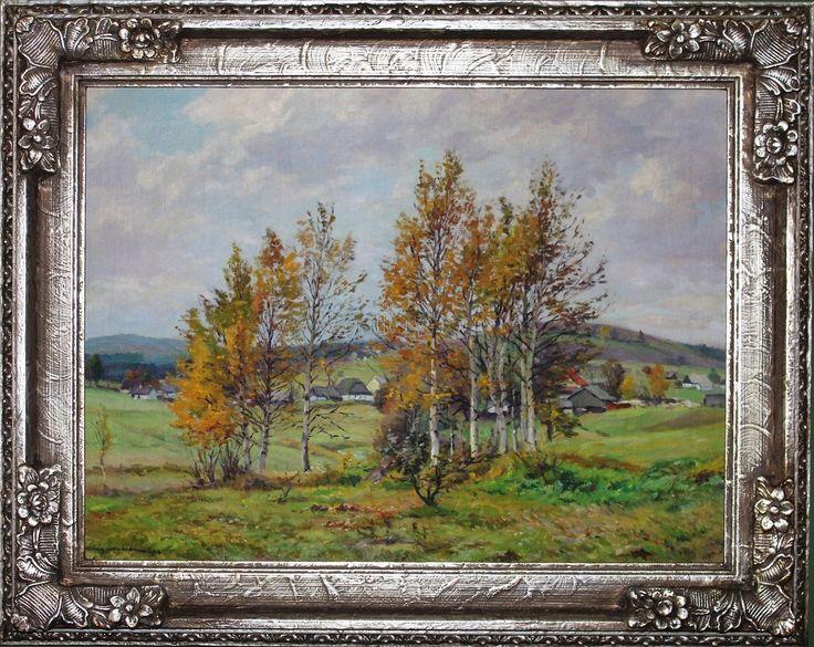 Cína Jelínek František -Podzimni břizky - olej,plátno - 79x63