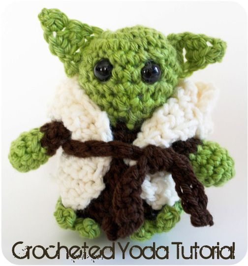 Free Pattern A Little Crocheted Yoda by ohsohappytogether,