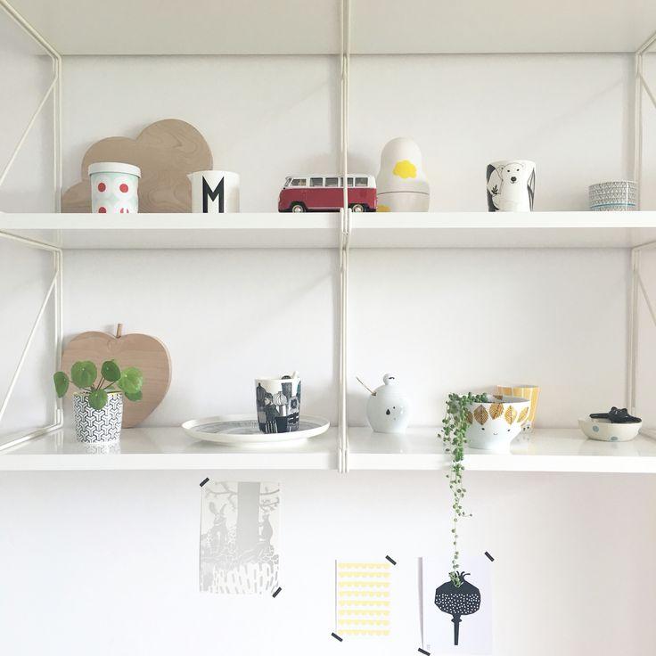 White ikea shelf / scandi style