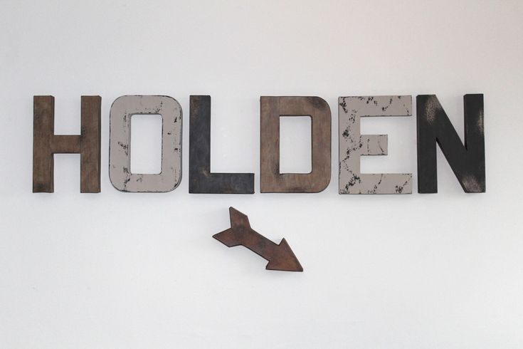 Rustic Wall Letters, Woodland Nursery Letters, Rustic Wood Letters, Nursery Boy Decor, Baby Boy Nursery, Distressed Letters, Farmhouse Decor by HouseofCrazi on Etsy https://www.etsy.com/listing/494676902/rustic-wall-letters-woodland-nursery