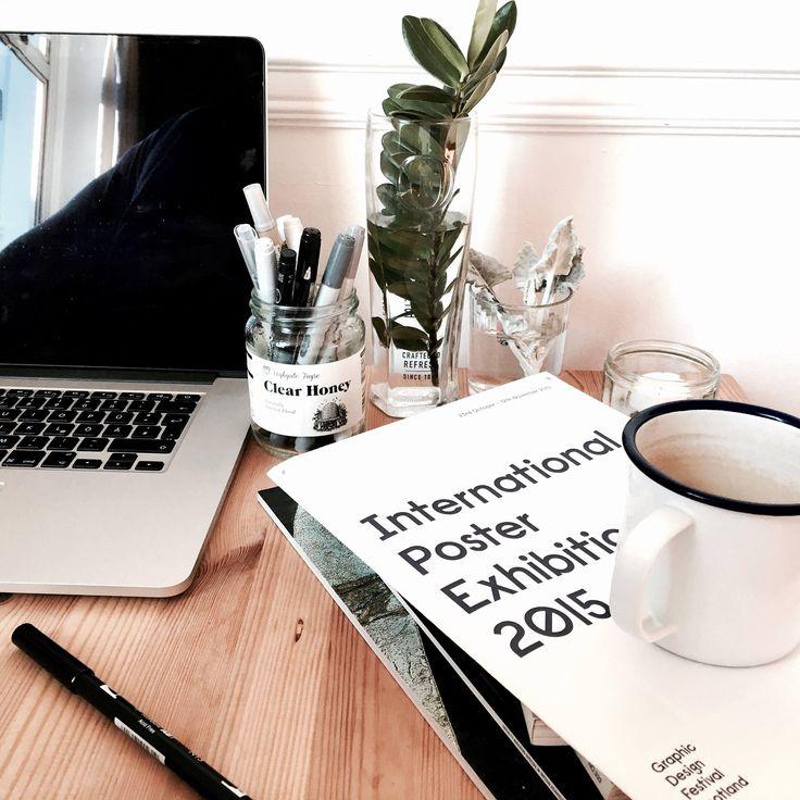 Interior Desk Graphic Designer . . . #interior #desk #graphicdesign #graphic #coffee #plants #photography #nordic #scandinavian #design #designer