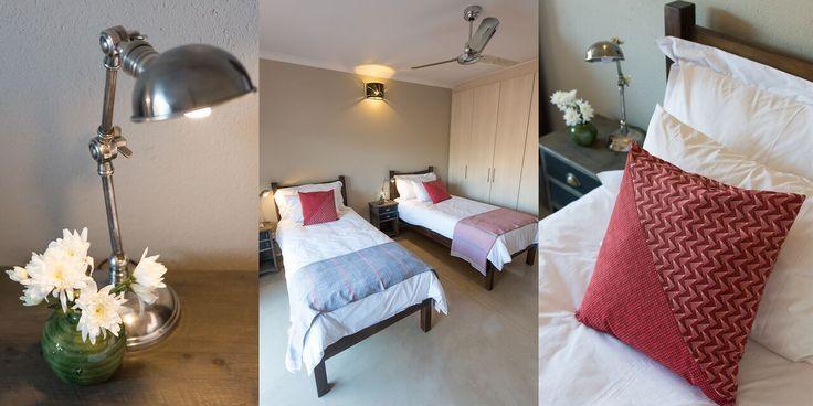 Bedrooms beautifully painted in Midas Envirolite Midafelt 225 - MOOI RIVER.