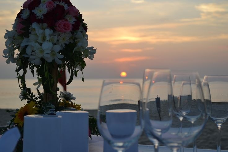 Watching the sun go down whilst dining along Karon Beach, Thailand. We shared in some ripper seafood that night!