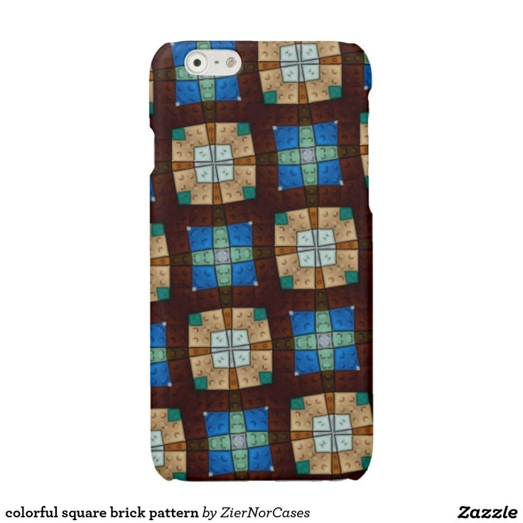 colorful square brick pattern glossy iPhone 6 case