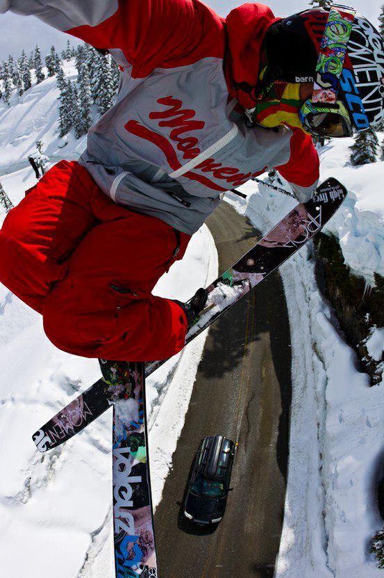 Sick grab #skiing