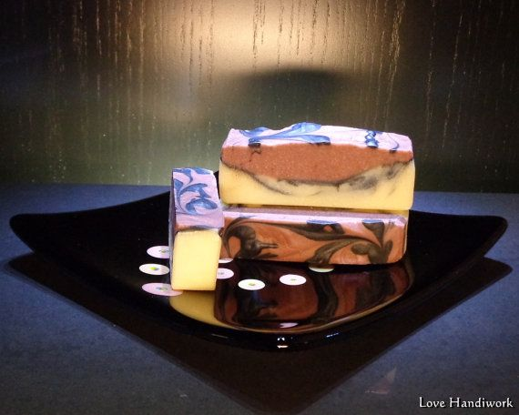 Hint of Orange Bar Soap   All Natural Handmade by LoveHandyWork