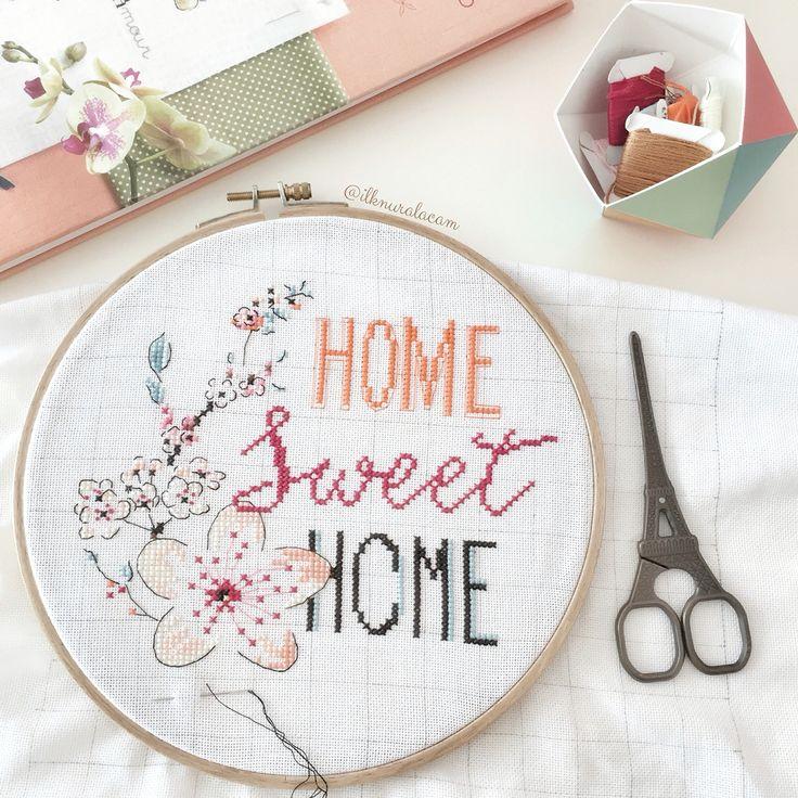 Home sweet home / cross stitch - Helene Le Berre