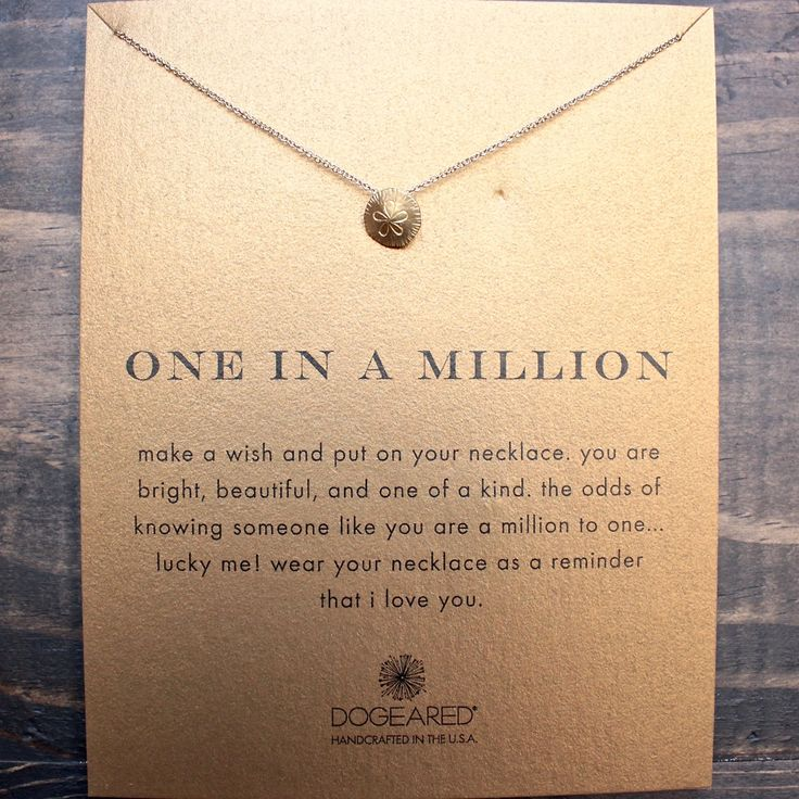 dogeared one in a million sand dollar necklace in gold dipped - shophearts