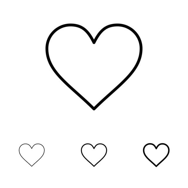 Love Instagram Interface Like Bold And Thin Black Line Icon S Love Clipart Line Icons Black Icons Png And Vector With Transparent Background For Free Downloa Line Icon Icon Set Icon