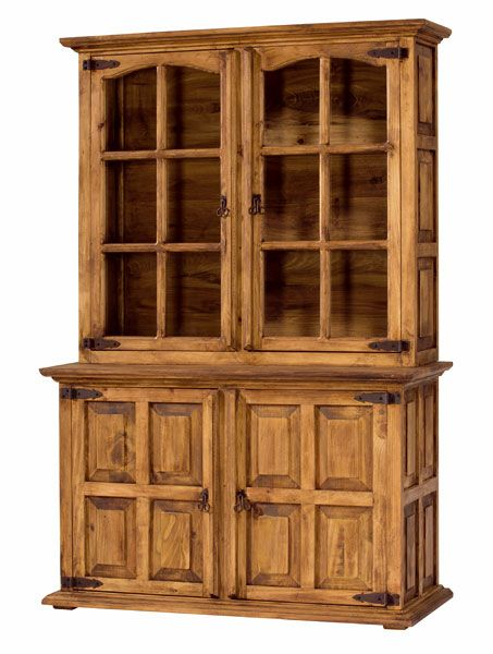 Alacena 4 puertas cuarteron rustica http www for Muebles de oficina rusticos