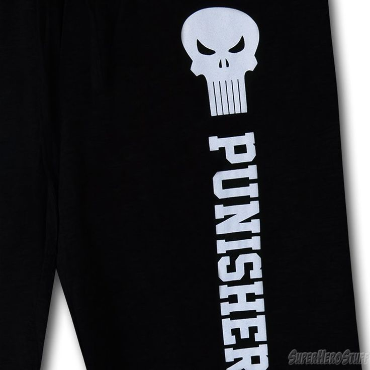 These are so comfy! Punisher Symbol & Text Sweat Shorts