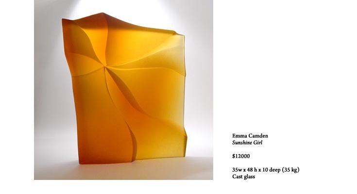 Emma Camden glass sculpture - Sunshine Girl