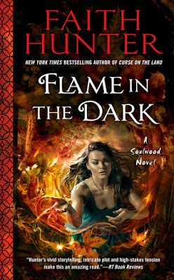 Flame in the Dark by Faith Hunter (Soulwood #3)  Total. Book. Hangover. blends an urban fantasy, suspense thriller, and paranormal romance all in one and I absolutely LOVED IT.  http://tometender.blogspot.com/2017/11/flame-in-dark-by-faith-hunter-soulwood-3.html