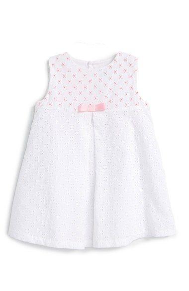 Luli & Me Sleeveless Eyelet Dress (Baby Girls) available at #Nordstrom