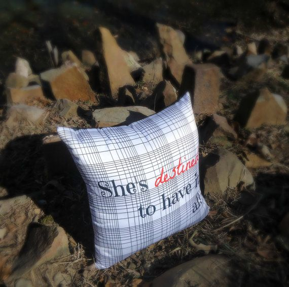 She's Destined reversible throw pillow w/ plaid & by SheDecor, $14.99