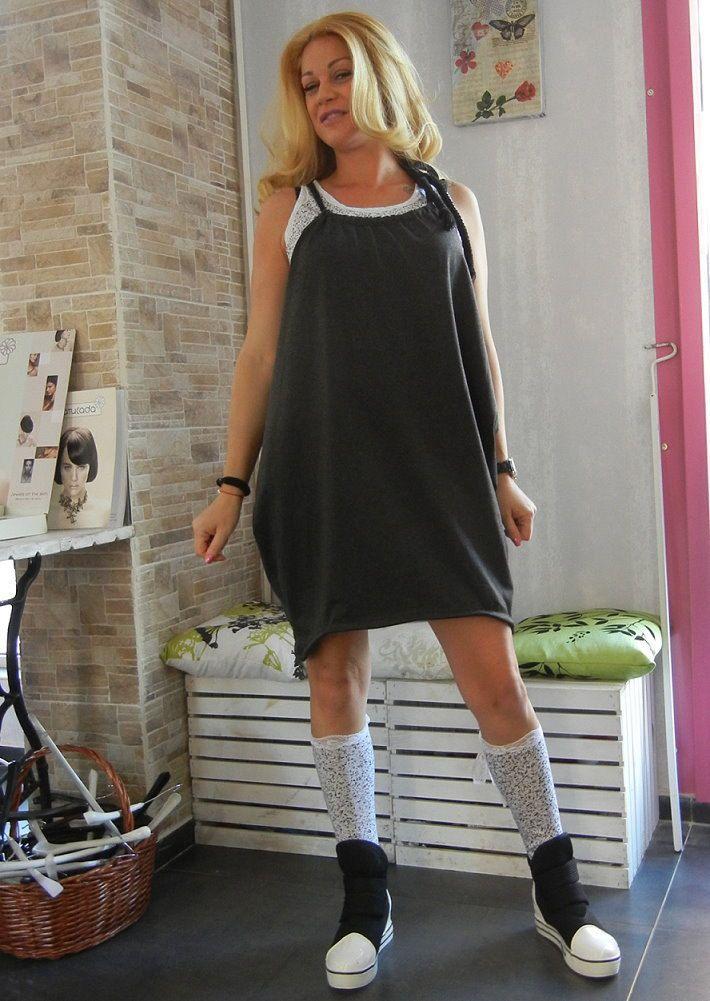 Black pinafore dress / Robe pinafore dress / Loose pinafore / Loose Dress / Extravagant pinafore / Extravagant pinafore dress / Cool Dress by attrativo on Etsy