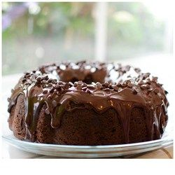 Too Much Chocolate Cake | Start with a box of chocolate cake mix and add a few ingredients like sour cream and chocolate chips to make a moist, intensely-flavored chocolate cake that will win you First Prize from your friends and family.