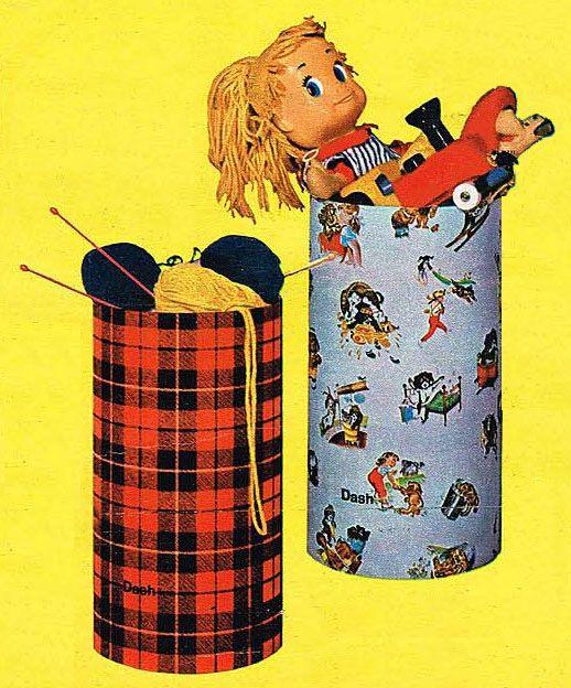 """""""Les barils de lessive décorés des années 70"""" par Nath-Didile - Les petits dossiers des Copains d'abord"""