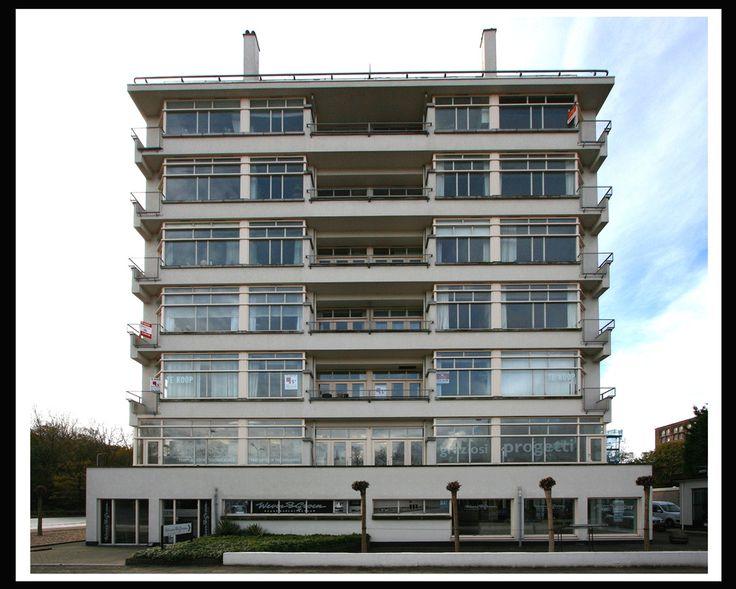 """Jan Duiker en Jan Gerko Wiebenga, """"Nirwana-Flat"""", appartementengebouw, Den Haag, 1926-1929"""