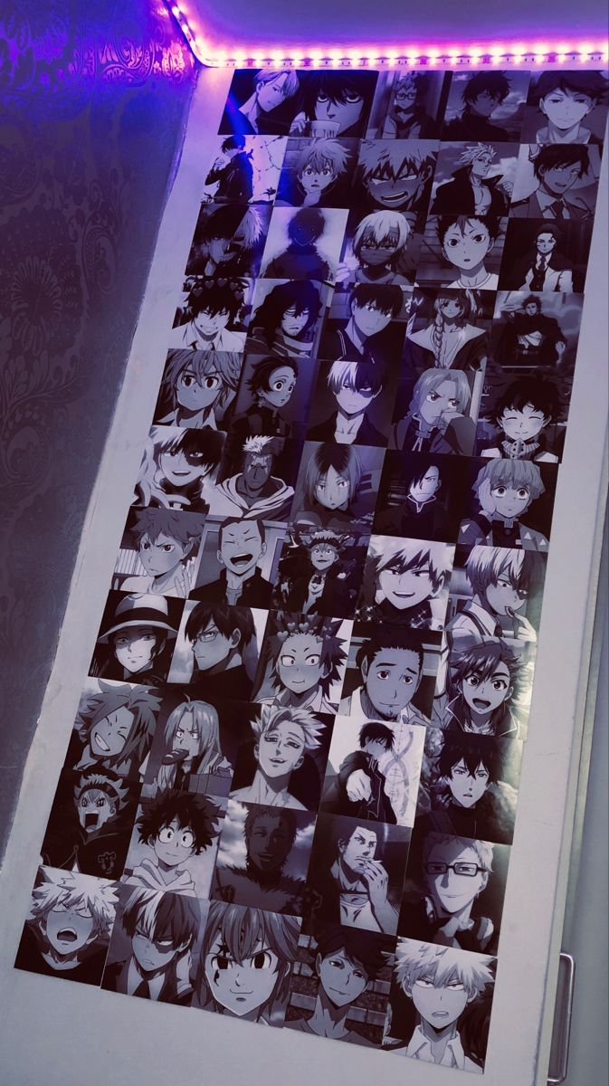 Anime Boy Wall Black And White In 2020 Anime Decor Otaku Room Kawaii Room