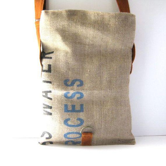 bolsa de arpillera de caf reciclado plegable por rachelelise