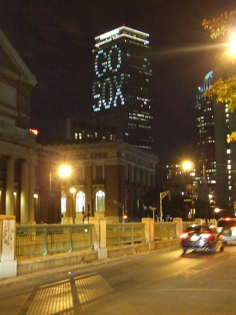 Chicago White Sox! ------ WRONG. This is the Pru. It's the Red Sox, dummy.