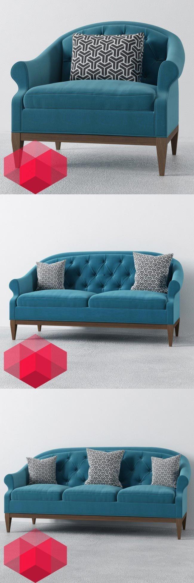 El equipo de Redhome Visual comparte hoy 3 modelos de su colección de mobiliario. Los objetos corresponden a sillones de estilo neoclásico, de 1, 2 y 3 cuerpos, y están disponibles en formato .MAX y .FBX.