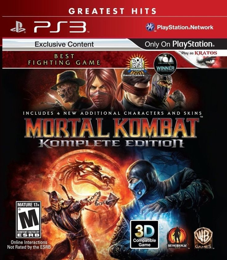 PS3 MORTAL KOMBAT KOMPLETE EDITION GREATEST HITS (SONY PLAYSTATION 3)