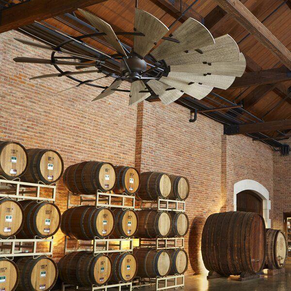72 Ulises Windmill 15 Blade Ceiling Fan In 2020 Windmill Ceiling Fan Rustic Ceiling Fan Ceiling Fan
