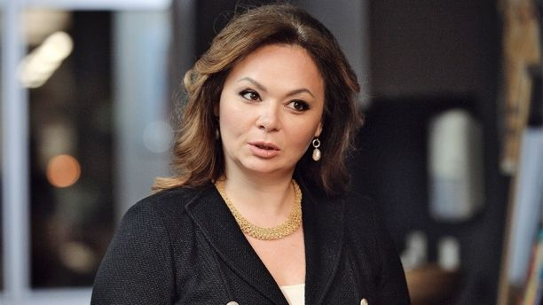 In this photo taken on Tuesday, Nov. 8, 2016, Kremlin-linked lawyer Natalia Veselnitskaya speaks to a journalist in Moscow, Russia.  President Donald Trump's eldest son changed his account of the meeting he had with a Russian lawyer during the 2016 campaign over the weekend, saying Sunday July 9, 2017, that Natalia Veselnitskaya told him she had information about Clinton. A statement from Donald Trump Jr. one day earlier made no mention of Clinton. (Yury Martyanov /Kommersant Photo via AP)…