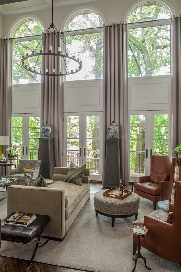 17 best images about two story windows on pinterest high High ceiling window treatments