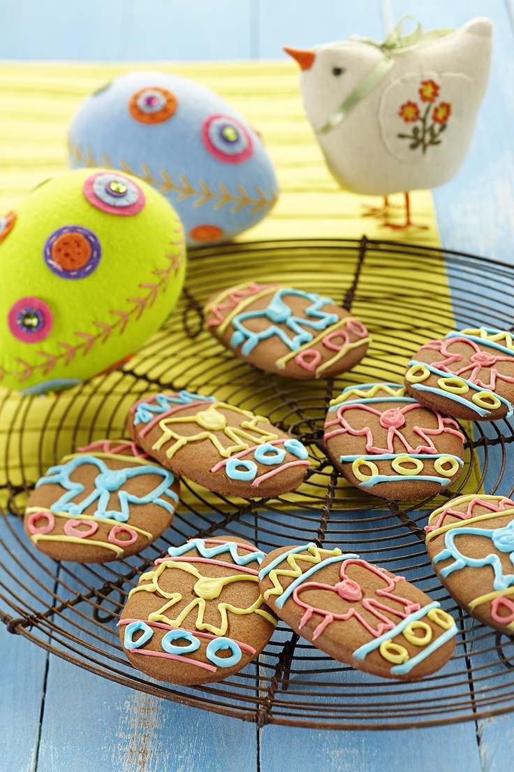 Make these cute little Cocoa Easter egg shaped biscuits with your children and let them decorate to their hearts content!