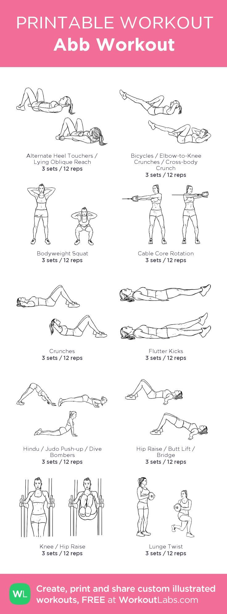 Abb Workout: my visual workout created at WorkoutLabs.com • Click through to ….