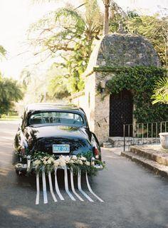 garden wedding transport decor - Google Search