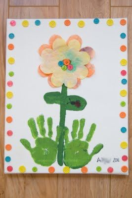 Mother's Day Gift Idea: Growing Handprints Canvas Art