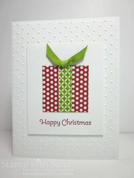 Fun with Washi Tape - Washi Christmas Card #diy #crafts