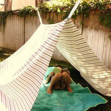 backyard tents make shady, lazy summer hideaways