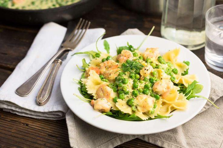 Simpele pasta met gamba's en knoflook - Koken met Aanbiedingen