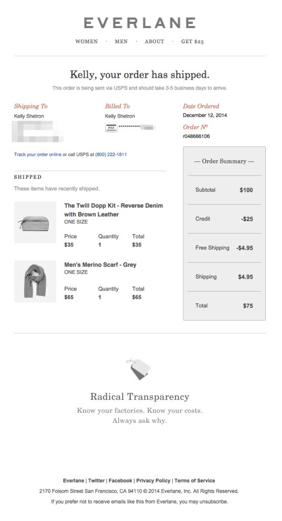 Best Shipping Confirmation Emails Images On   Email