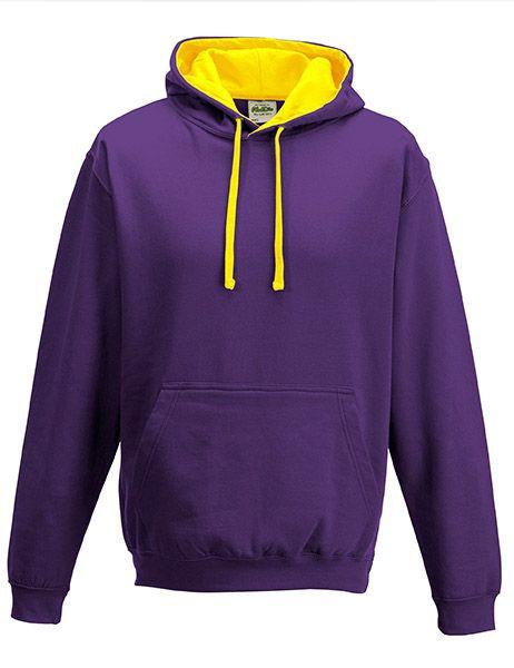 Varsity Hoodie - Purple/Sun Yellow