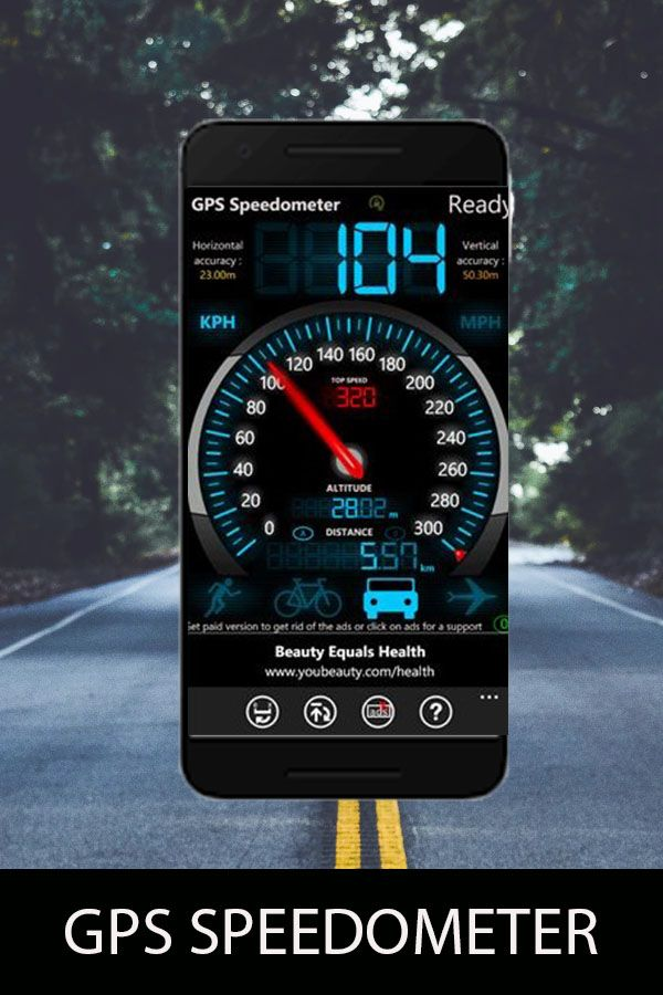 Gps Speedometer And Hud Odometer App Is Used To Measure Car And