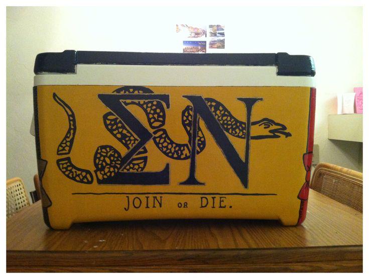 Sigma Nu cooler join or die snake